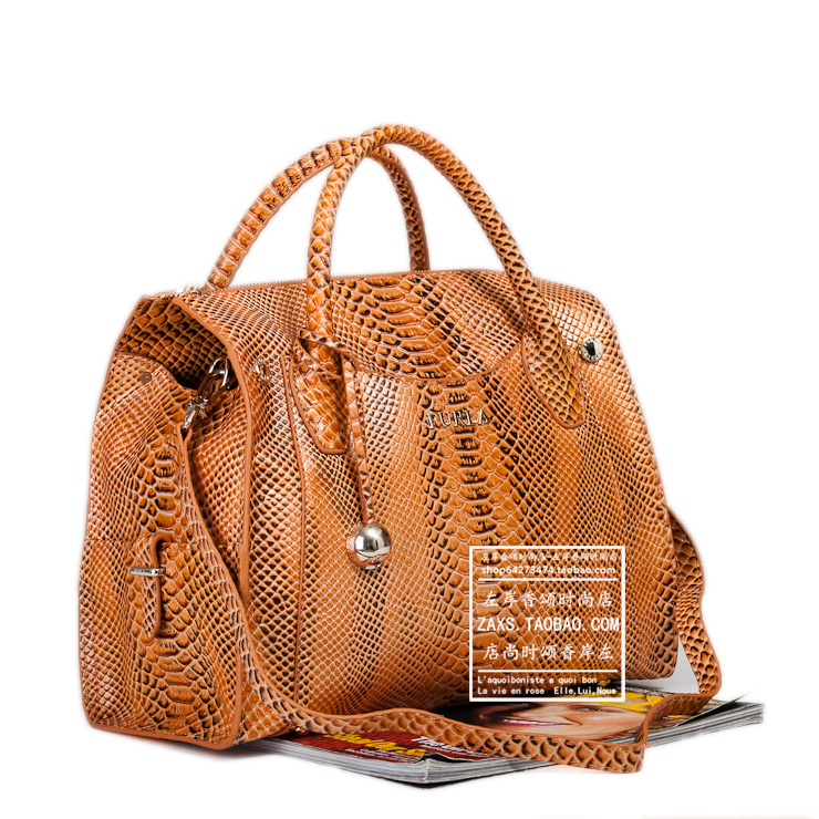 Сумка Новые онлайн роскоши FURLA кожа кожа змеиной кожи сумки достойного многоцветный