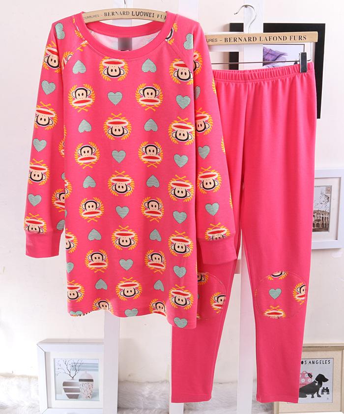 Пижама Бинг ся ли солнце с Подлинная история горячей мама пижама зимой розовые ночная рубашка дамы хлопок Терри хлопка с длинным рукавом одежды