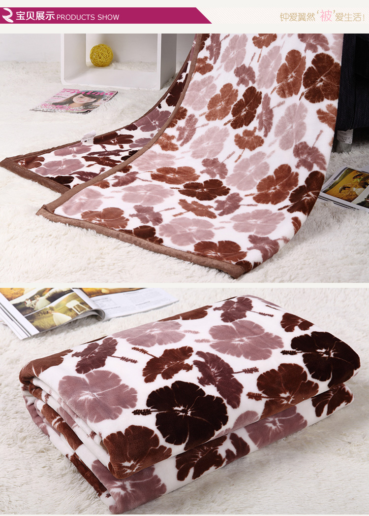 ELAN Soft Comfortable Flannel Coral Fleece Bedding Woolen Blanket