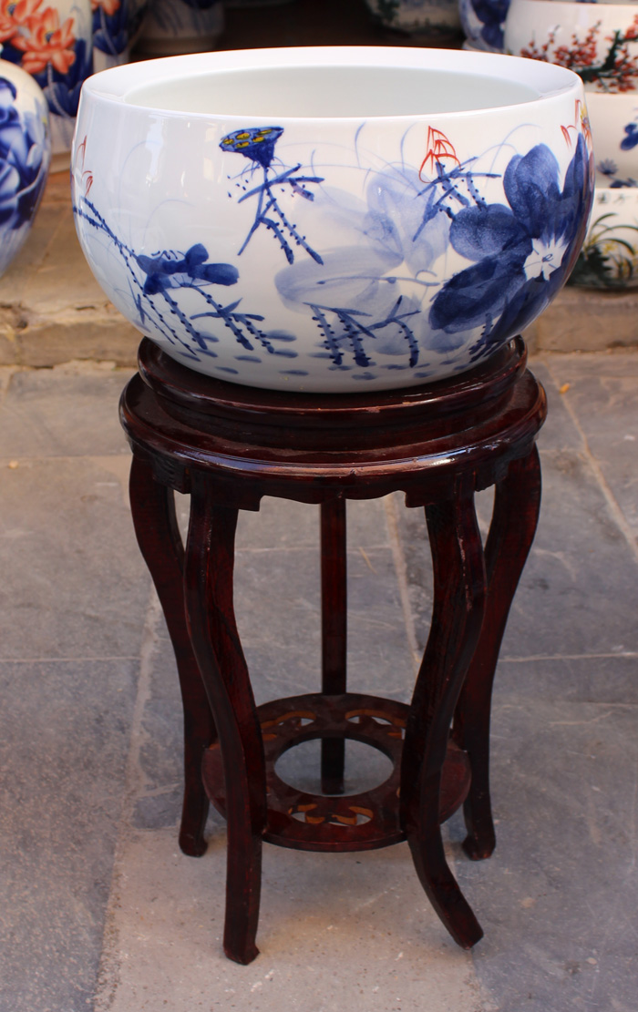 Аквариум Blue and white porcelain