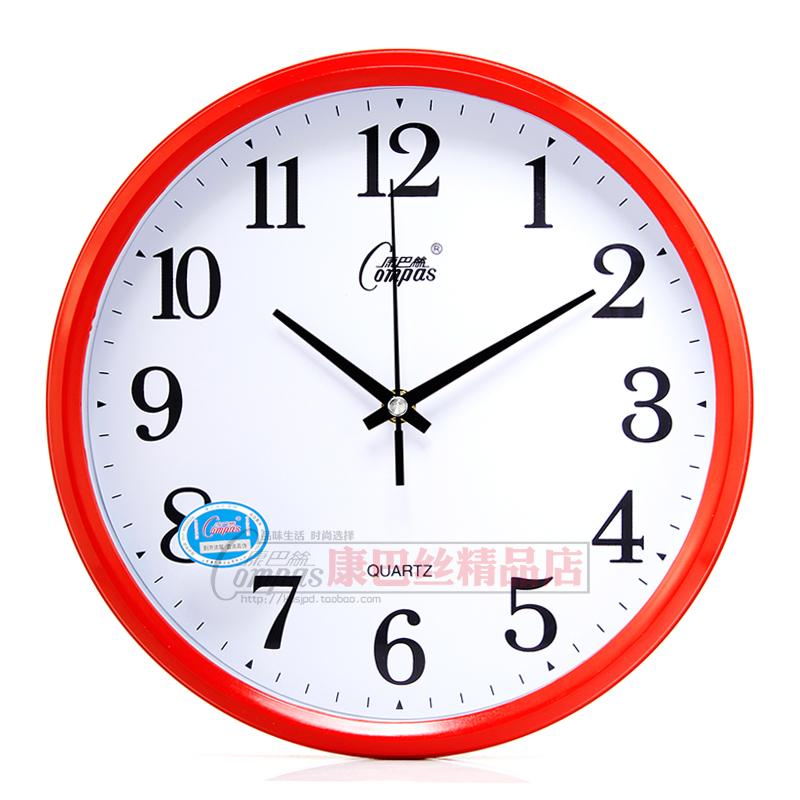 Genuine COMPAS mute wall clock cute cartoon children living bedroom when quartz watches wholesale Campus