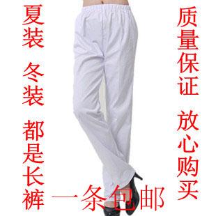 Униформа для медперсонала Летнее платье белые медсестер в медсестра брюки брюки упругие талии комбинезон врачей работающих медицинских сестер носить белые пальто почта