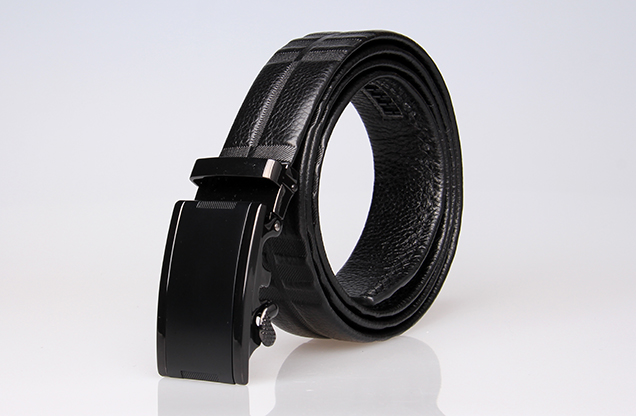 auto lock buckle belt , Mens Leather Ratchet Belt, magnetic automatic buckle b