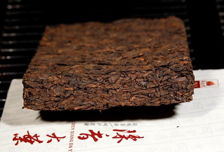 新益号陈香大叶250g普洱砖茶细节图展示