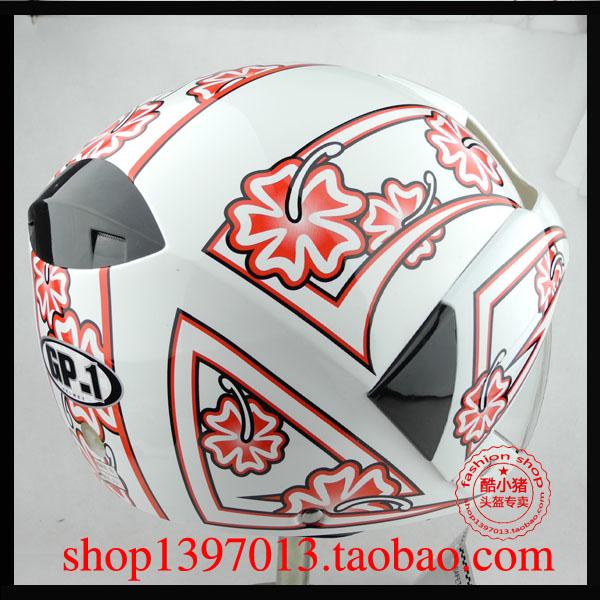мото шлем 2 кроны «Копилка» GP1 J3 половина шлем, белый, красный