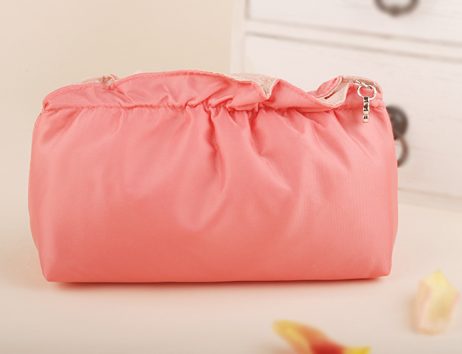 OCS Ruched nylon handbags fashion bag hand bag cool cosmetic bag