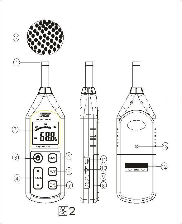 分贝仪噪音计声级计音量仪 USB接口可连电脑 浙江台州衢州
