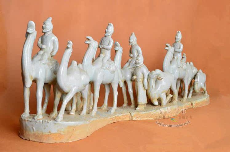 【丝绸之路仿古唐三彩书房荷载艺术按照家居的别墅收藏陶瓷活多少骆驼图片