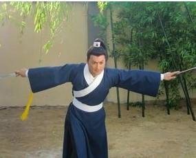 Национальный костюм Новый мужской одежды в траурные одежды Китайская одежда старинный костюм белый рыцарь, самурай воин мужчин показывают Чан Чао костюмы