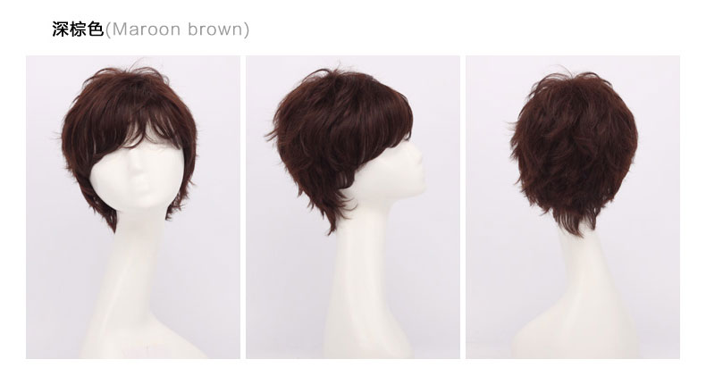 Ying Qi wig real hair wig short hair wig middle-aged mom money real hair wig wig anchor