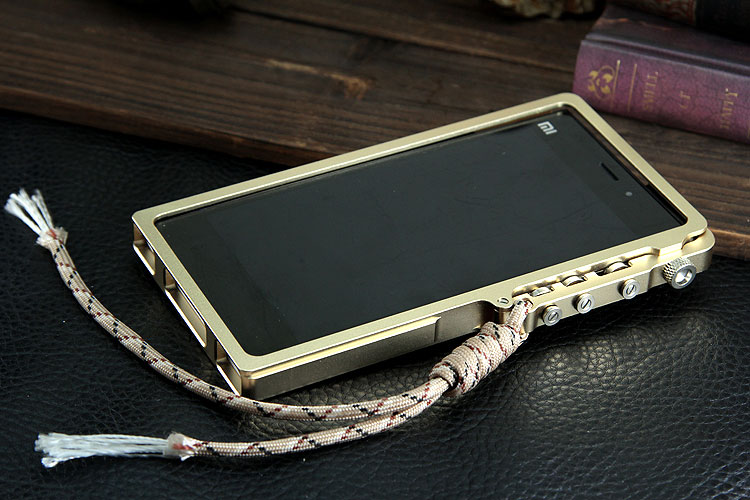 SIMON Mechanical Arm Trigger Aluminum Alloy Metal Bumper Outdoor Case Cover for Xiaomi Mi 3