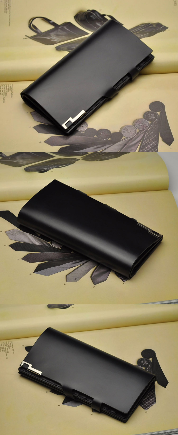 BLBY Leather Solid Vertical Portable Small Men Wallets