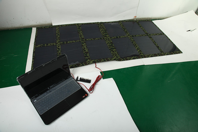 【正品 120W太阳能发电板 笔记本便携折叠充