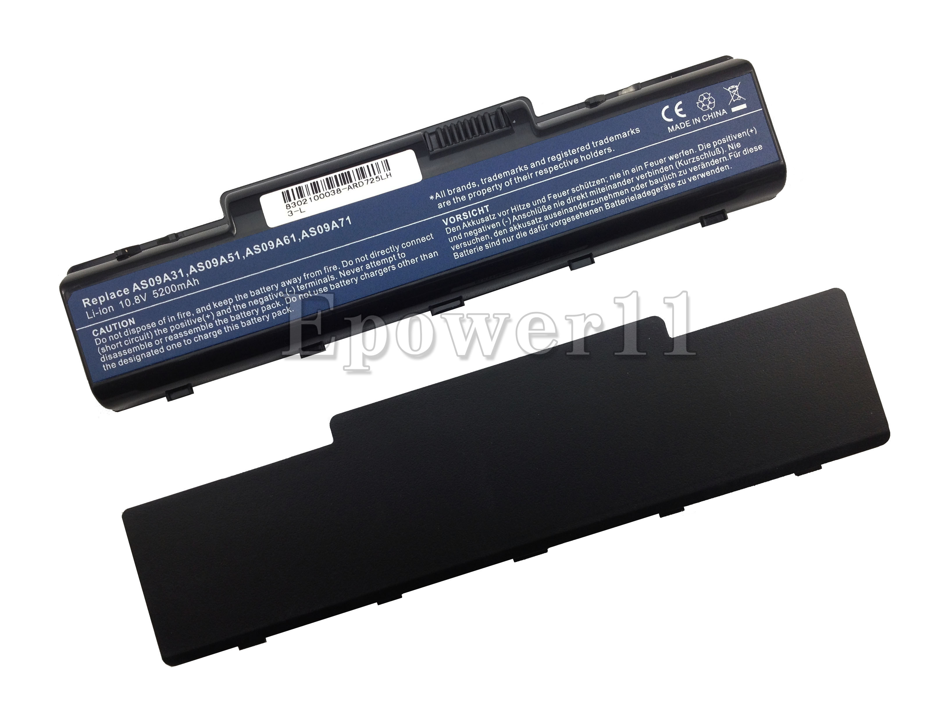 5200mah battery for packard bell easynote tj71 tj72 tj73 - Batterie packard bell easynote lj65 ...