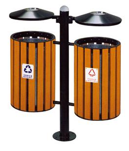 Урна Круглый открытый деревянный мусор классификации экологических мусор сообщества Парк улица Зеленая кожура баррелей баррель хранения