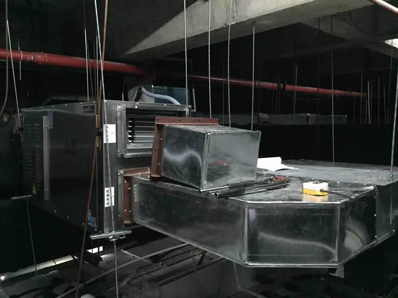 泽生科技安装湿腾转轮除湿机安装现场图