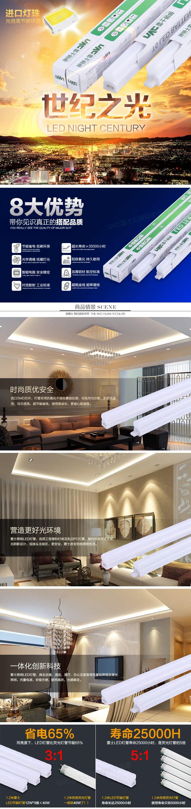 Светодиодная лампа NVC  LEDT5 LED T5 LED T5 - 1