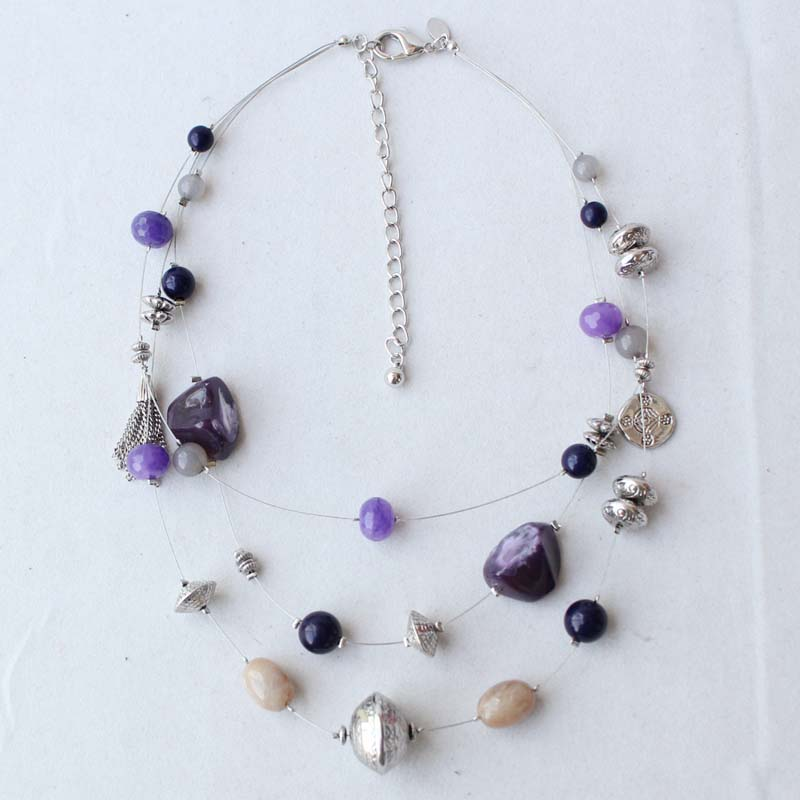 """20"""" New Chicos Multi-strands Necklace Earrings Jewelry ..."""