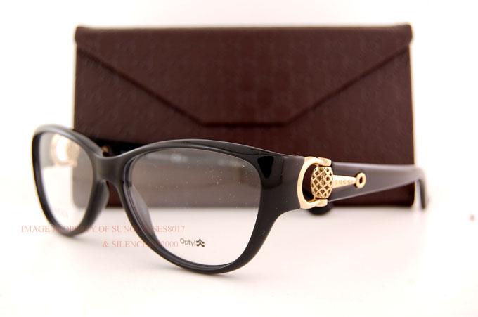 Where Are Gucci Eyeglass Frames Made : Brand New GUCCI Eyeglass Frames 3714 D28 0D28 Black Shiny ...