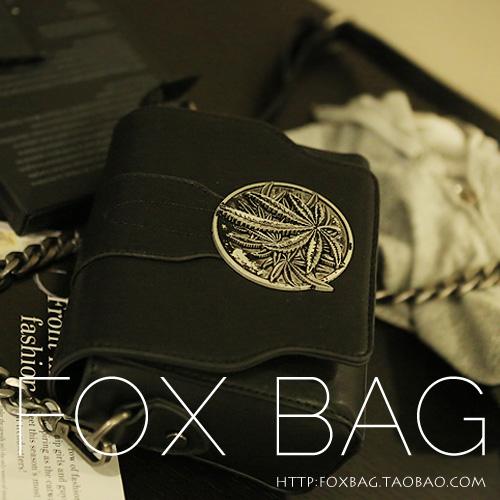 Сумка «Foxbag» 2013 новый Специальный Европейский Ветер Диагональ чернокожих женщин мода цепи сумка сумка женщин сумки