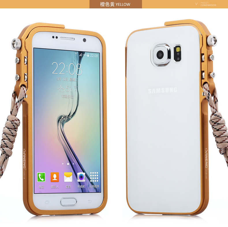 KANENG Mechanical Arm Trigger Aluminum Bumper Metal Frame Case Cover for Samsung Galaxy S6 G9200