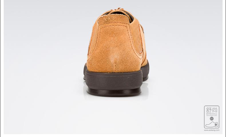 奥康新品 男士透气日常舒适软底鞋子 英伦潮流牛皮皮鞋单鞋高清展示图 33