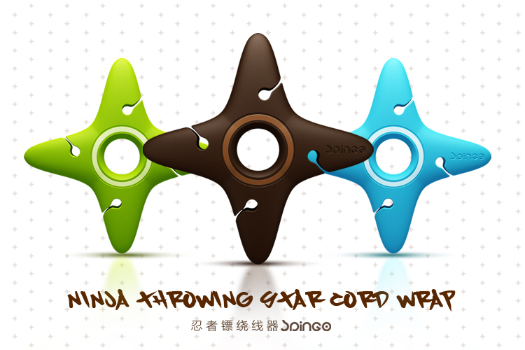 MOMO Shuriken Earphone Cable Winder for iPhone MP3 MP4 cellphone