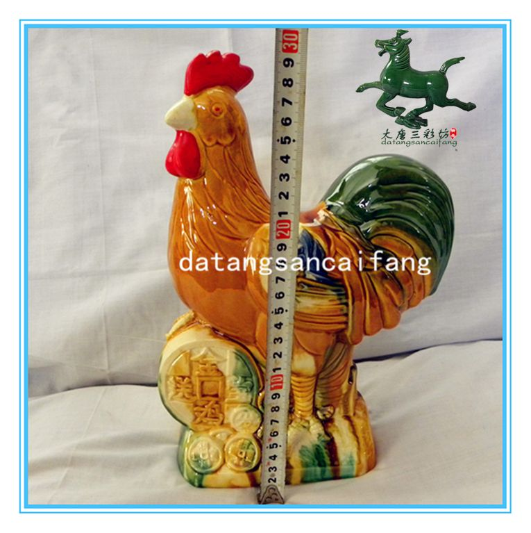 Jingdezhen Tang Bao ceramic ornaments to send Rooster rooster crafts home accessories office gift horse camel Luoyang