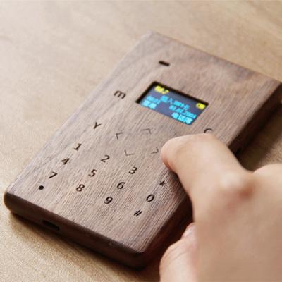 半米木纯手工实木触摸反智能机儿童学生卡片手机移动联通直板包邮