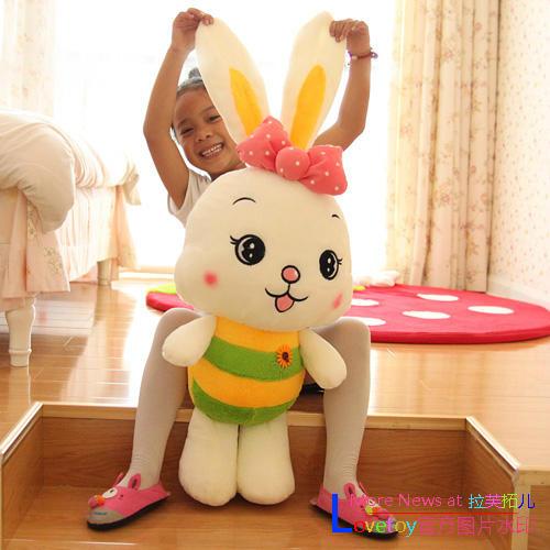 Courtney Love Billiton children  Birthday bows large cute rabbit plush toy rabbit plush doll bed dolls
