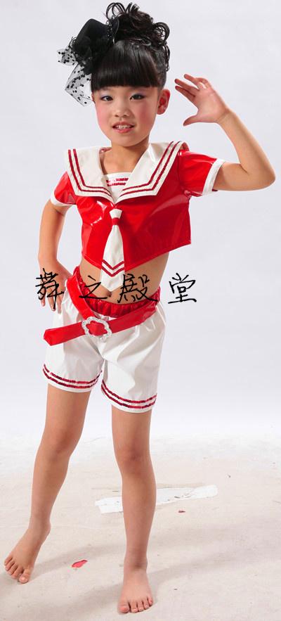 Детская одежда для танцев Шесть детей ВМФ танец костюм дети танец одежда производительности одежда детская стадии производительности одежда новый