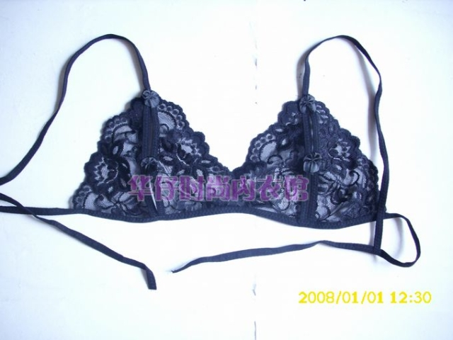 Contains Adult Classic Soft Lace Women Sexy Brassiere & Thong & Garter & Mesh Stockings Set