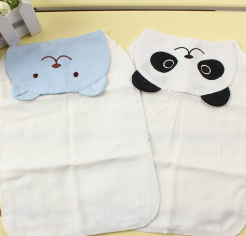 Qanui One thousand QU will be the standard code scapegoat towel 4 layers of gauze absorb sweat towel cartoon baby suction Hanjin bellne single price