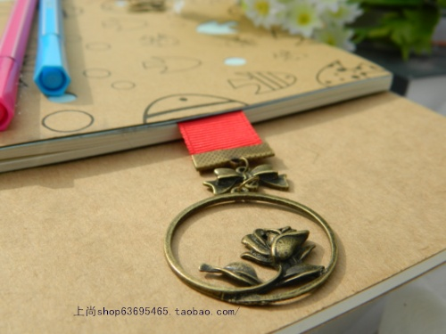 Umi 2cm ribbons 15cm creative metal bookmark Valentine's Day Gifts
