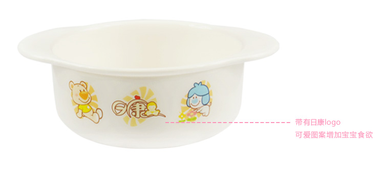Rikang Lovely PP Printing Double Ears Heat Resistant Microwave Tableware Acessories Baby Bowl