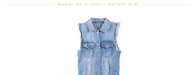 YS Summer denim jacket denim vest girls denim vest women