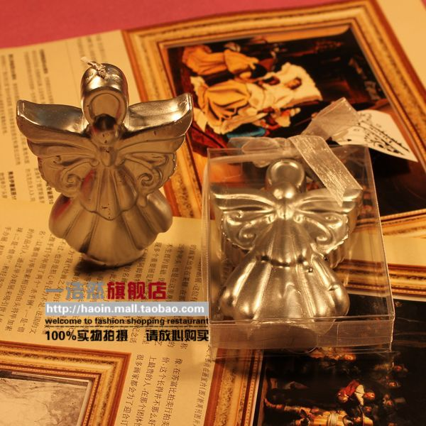 Haoin Silver Angel candle creative candles personalized candle Gifts Gift candle