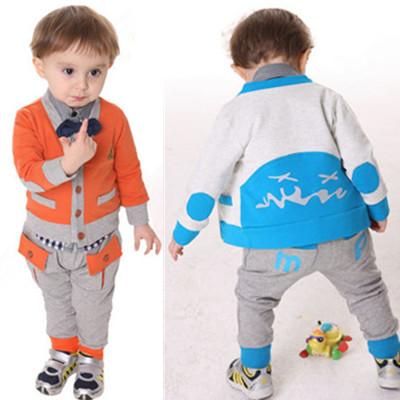 детский костюм Baby мальчик 2013 новые Весна носить все хлопка кардиган рубашки костюм джентльмен три кусок набор