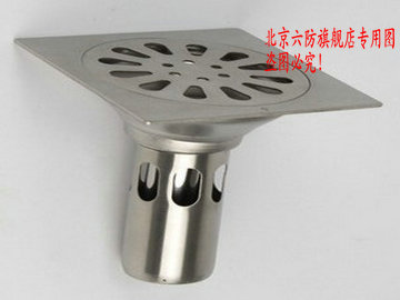 Six Prevention Factory direct, authentic six Fangde drain, round 12 cm stainless steel floor drain odor BXY120A