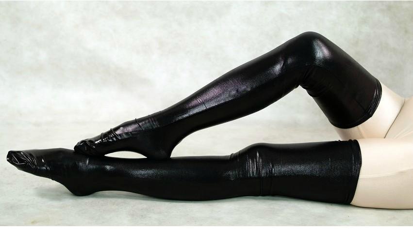 情趣内衣-高丝袜弹力舞弹力性感长筒袜性感皮唐嫣黑色图钢管图片
