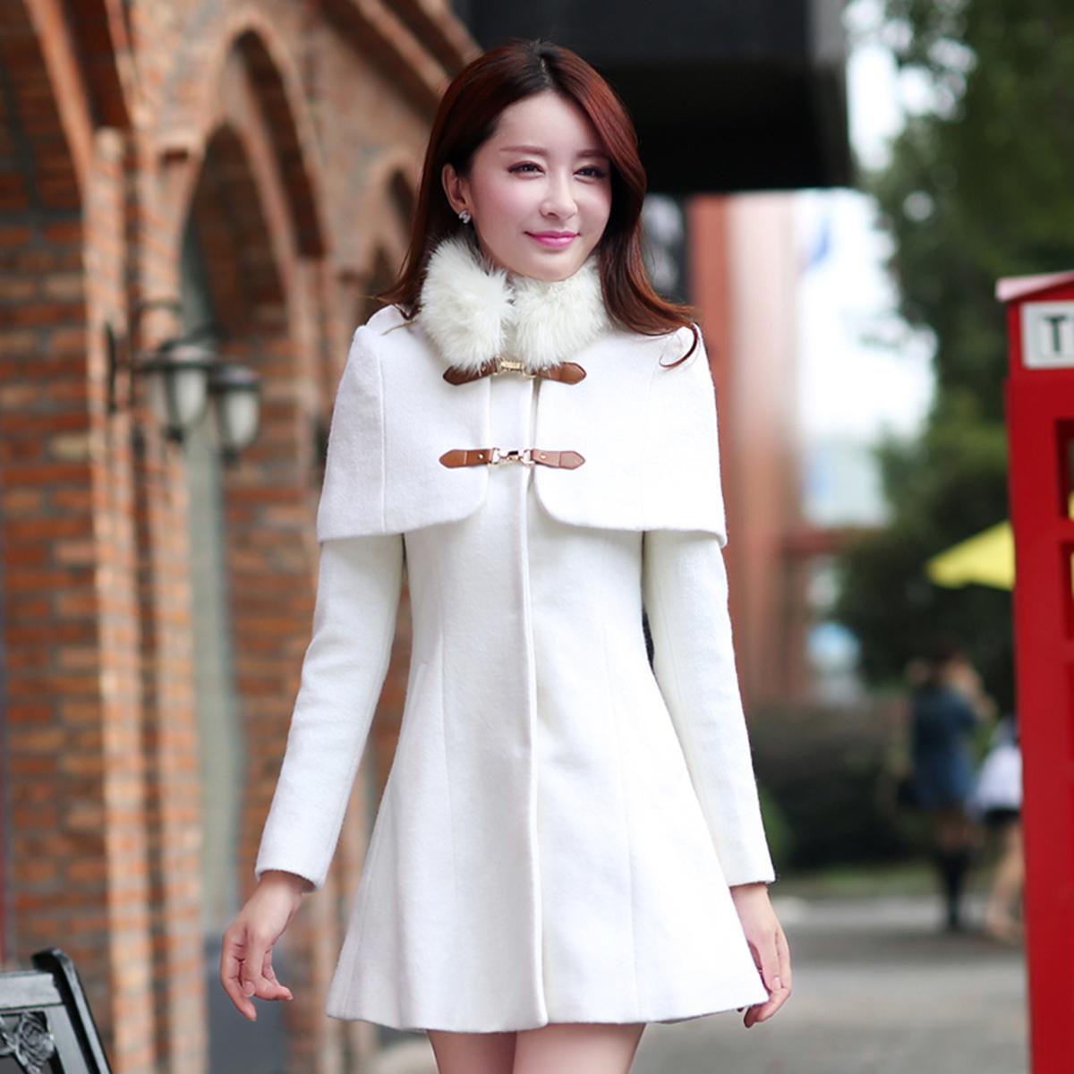 женское пальто Ayilian 2014 зима новый стиль Женская мода пальто тонкий мало два куска шерсти зимнее пальто шаль