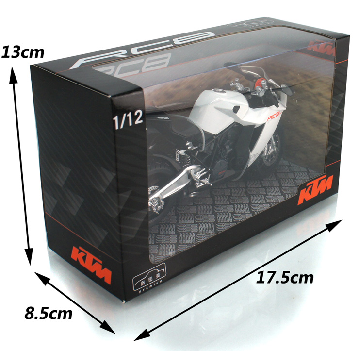 1:12 KTM RC8 super model motorcycle model alloy toy