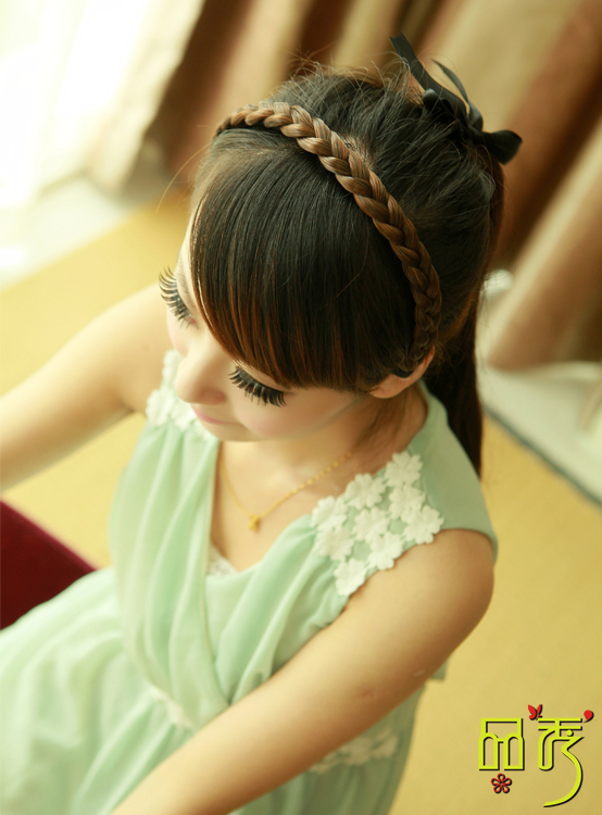 2013 New OL Temperament Vintage Sweet Womens Wig Braids Headband