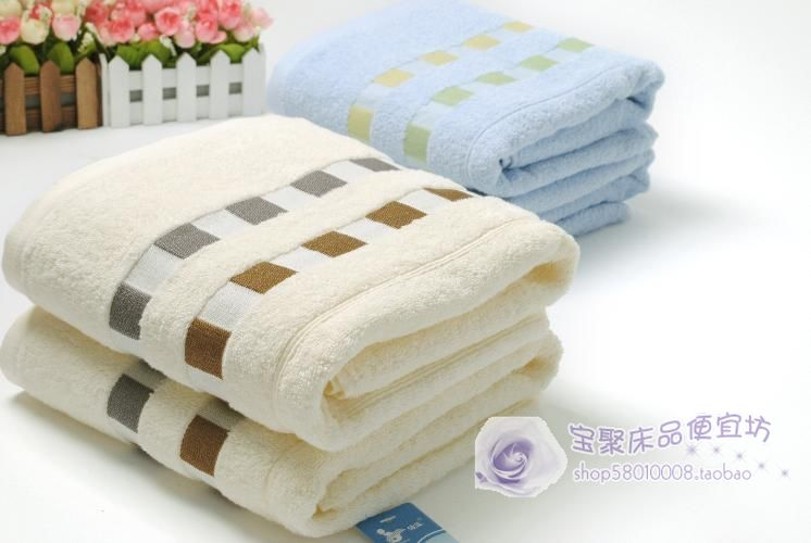 Sunvim Cotton dobby diconnect cotton bath towel