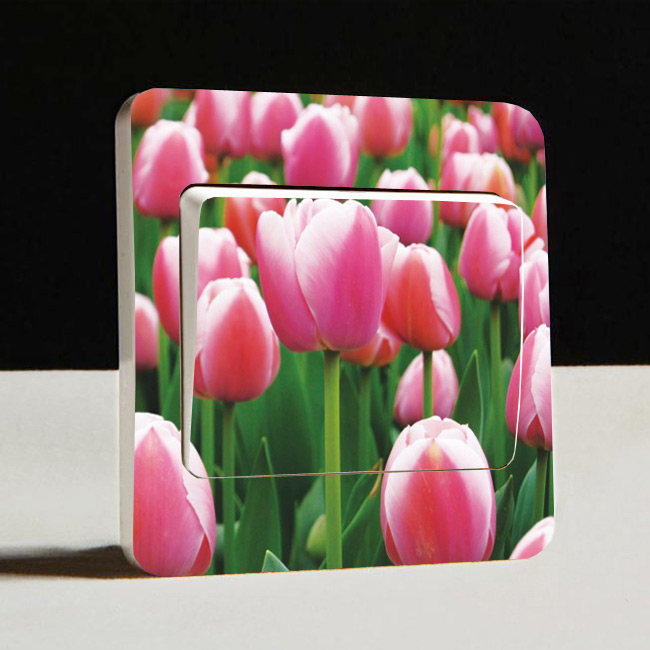 Fashion new Woya Korea style DIY color paste tulips flower switch series