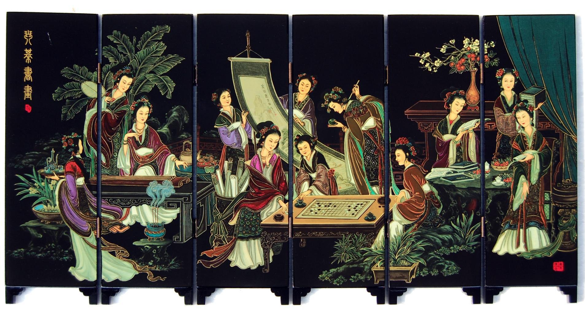Лакированная ширма Хуэй | Античный небольшой экран лак с китайского характерные искусств и ремесел домашние украшения украшения || отправить иностранцы заморские подарки