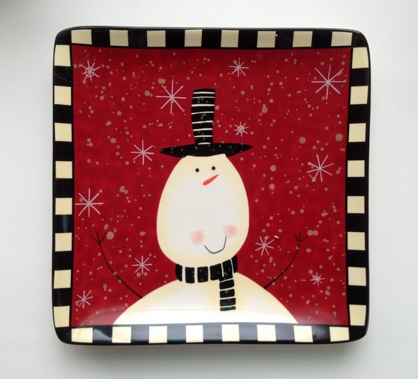 陶瓷餐具 圣诞节系列 欢乐的雪人 盘子/碗