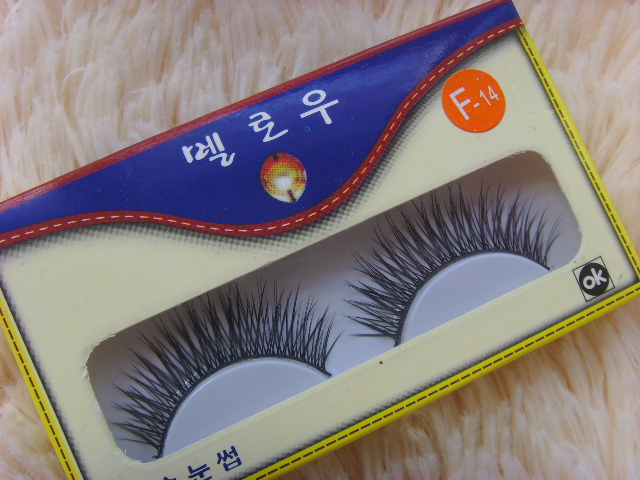 TUTU False eyelash eyelash longer natural pure manual  F14 ( 5 pairs )