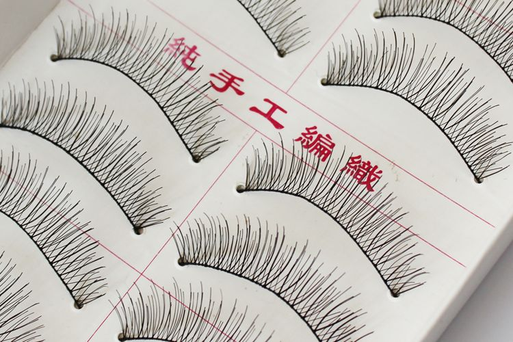 TUTU Handmade natural bare makeup eyelash 217 # cotton stems