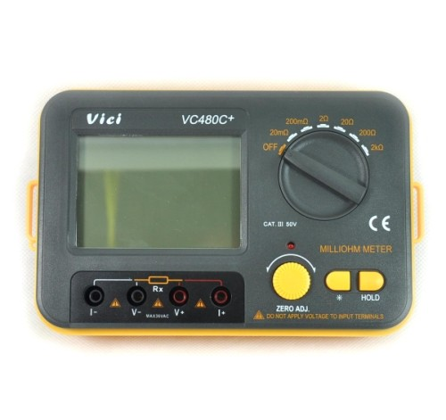 4 Wire Ohmmeter : New vc c digital milli ohm meter multimeter